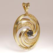 3D-tryckbar virvelvindhängen smycken 3d model