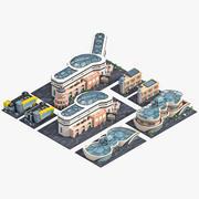 Коллекция зданий с улучшениями. 3d model