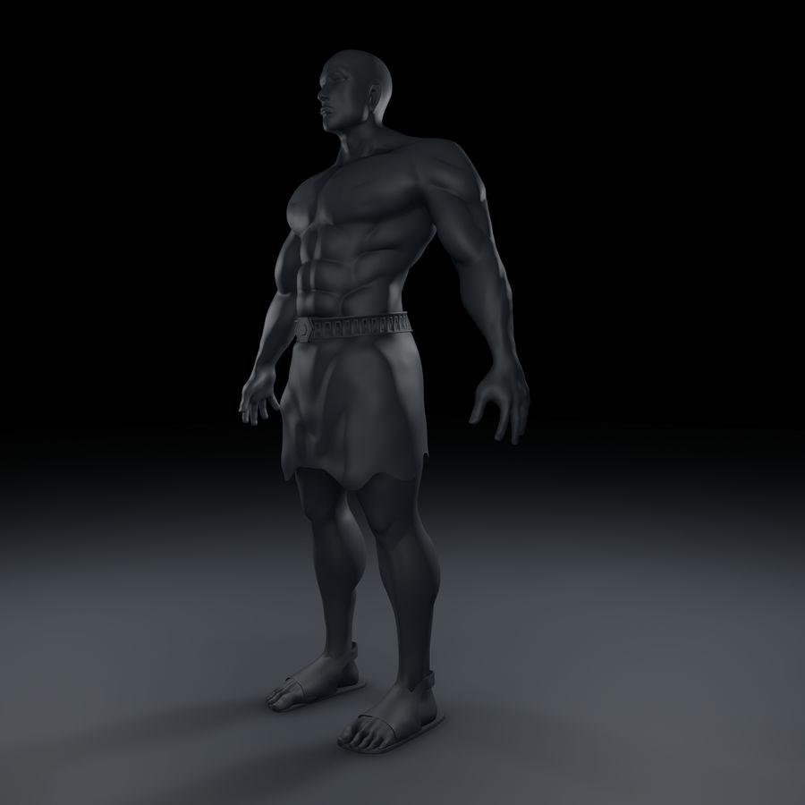 Hombre humano royalty-free modelo 3d - Preview no. 2