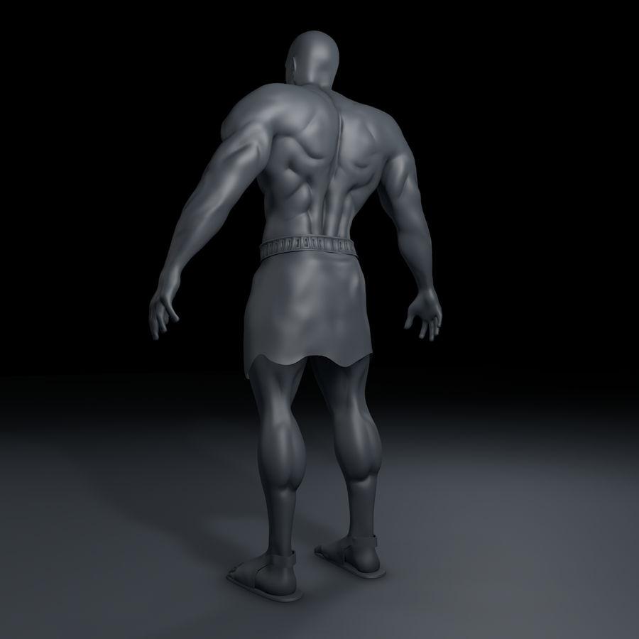 Hombre humano royalty-free modelo 3d - Preview no. 3