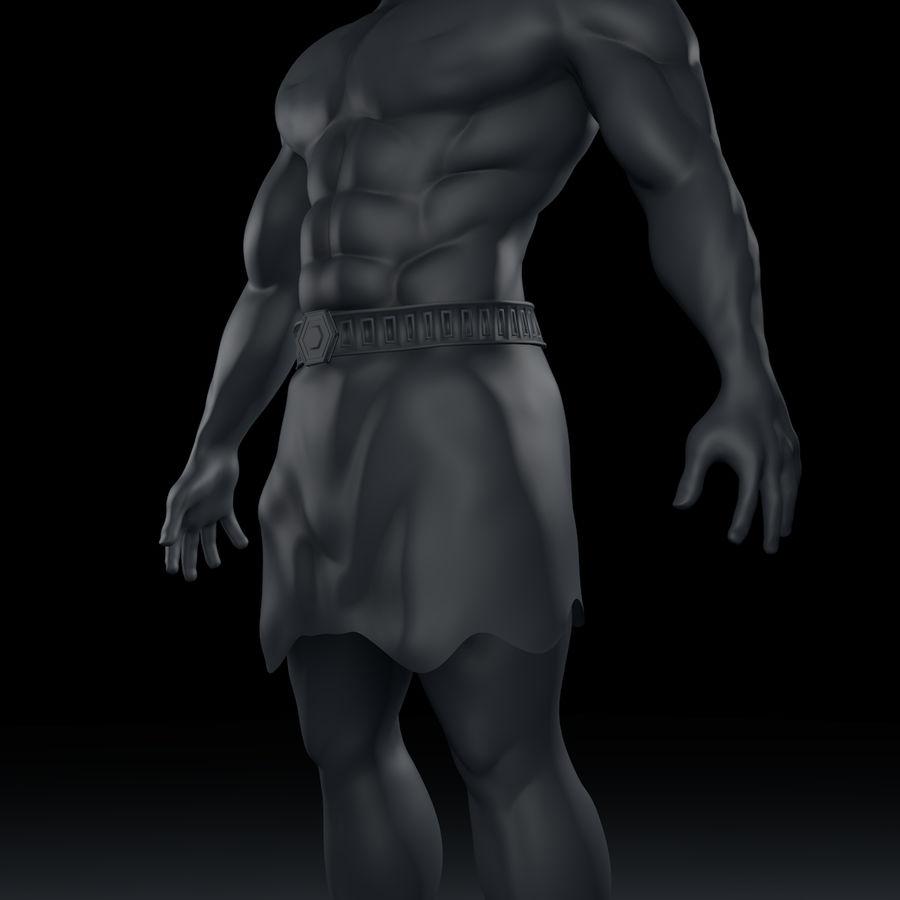 Hombre humano royalty-free modelo 3d - Preview no. 6