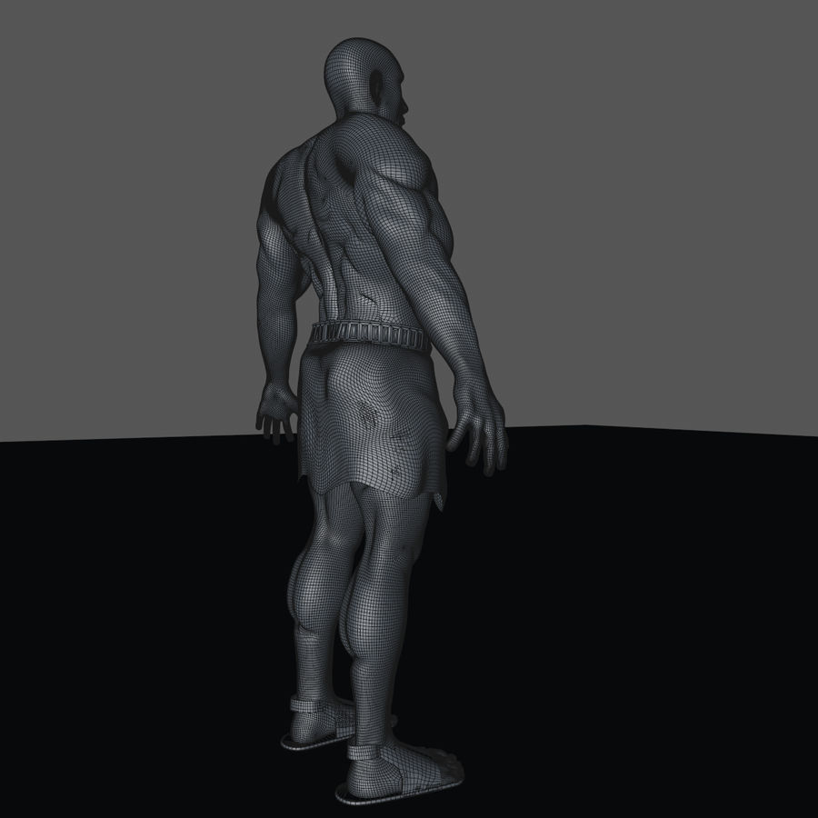 Hombre humano royalty-free modelo 3d - Preview no. 15