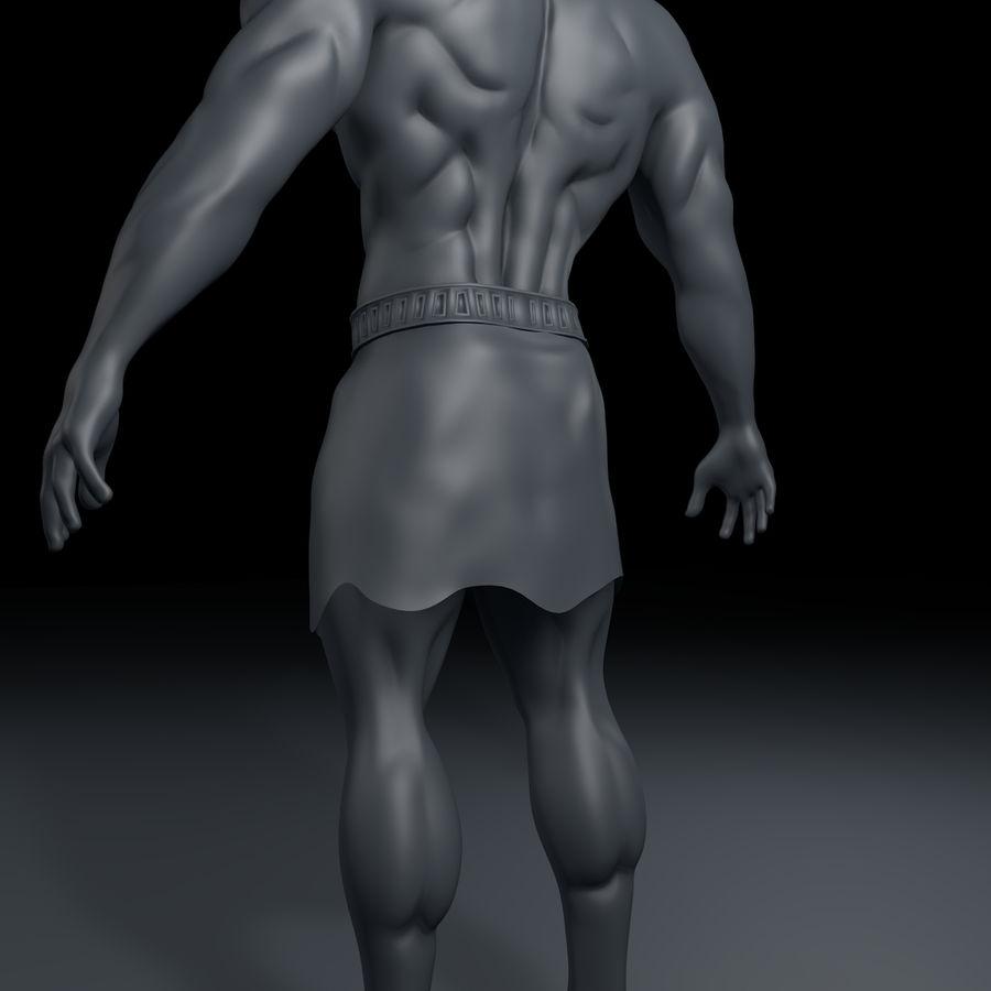 Hombre humano royalty-free modelo 3d - Preview no. 8