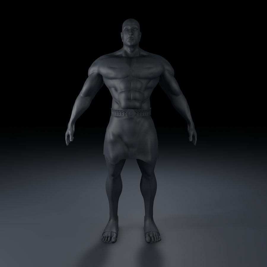 Hombre humano royalty-free modelo 3d - Preview no. 1