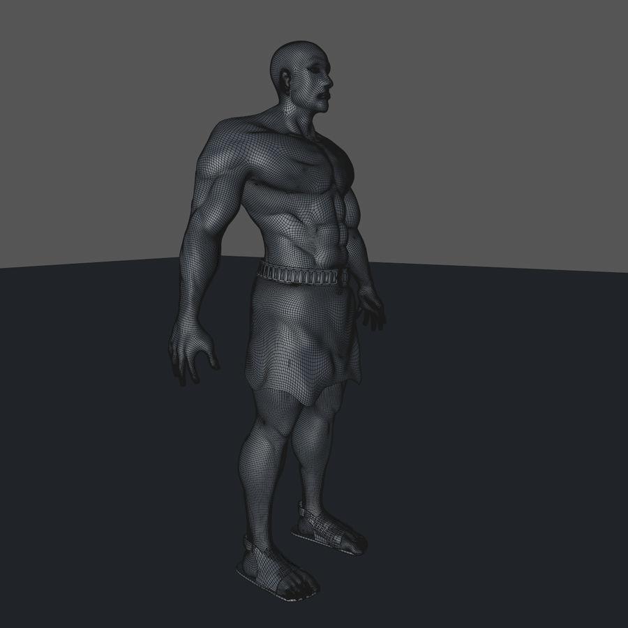 Hombre humano royalty-free modelo 3d - Preview no. 12