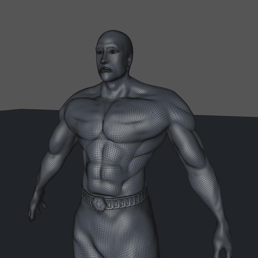 Hombre humano royalty-free modelo 3d - Preview no. 10