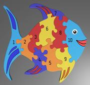 Number puzzle 3d model