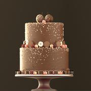 Chocolate cookie Cake 3d model
