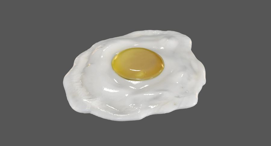 Fried Egg royalty-free 3d model - Preview no. 2