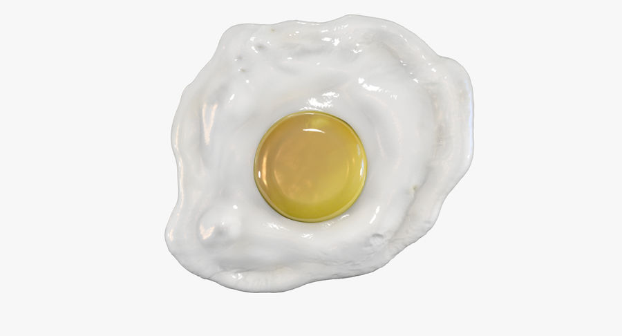Fried Egg royalty-free 3d model - Preview no. 5
