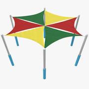 玩地面儿童帐篷 3d model