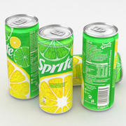Beverage Can Sprite 330ml Tall 3d model