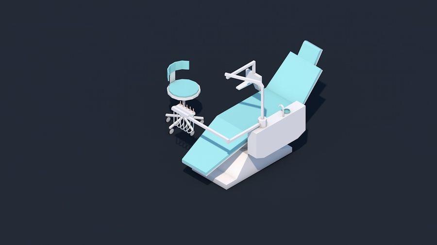 Zestaw szpitalny Low Poly - sprzęt medyczny royalty-free 3d model - Preview no. 8