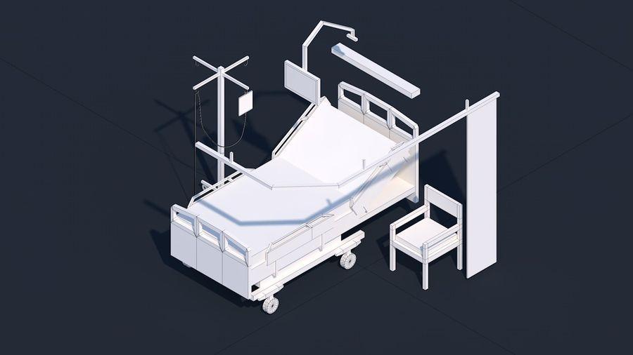 Zestaw szpitalny Low Poly - sprzęt medyczny royalty-free 3d model - Preview no. 3