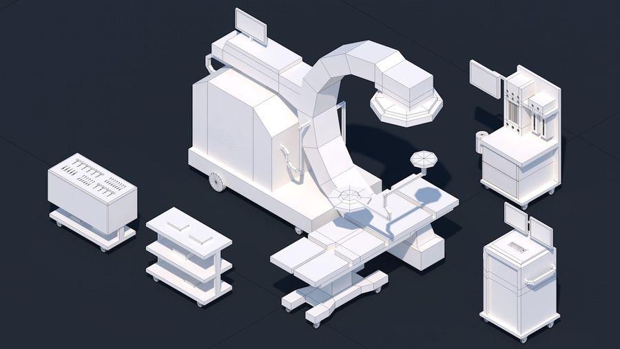 Zestaw szpitalny Low Poly - sprzęt medyczny royalty-free 3d model - Preview no. 11