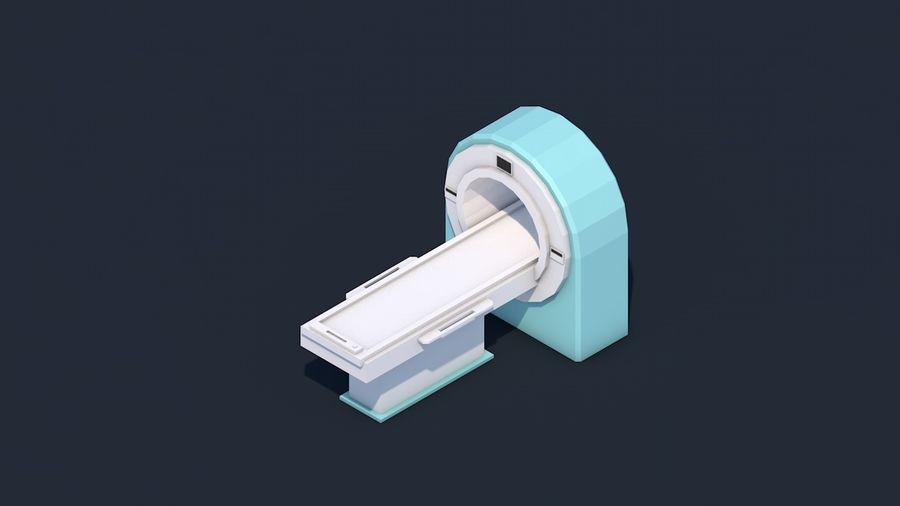 Zestaw szpitalny Low Poly - sprzęt medyczny royalty-free 3d model - Preview no. 6