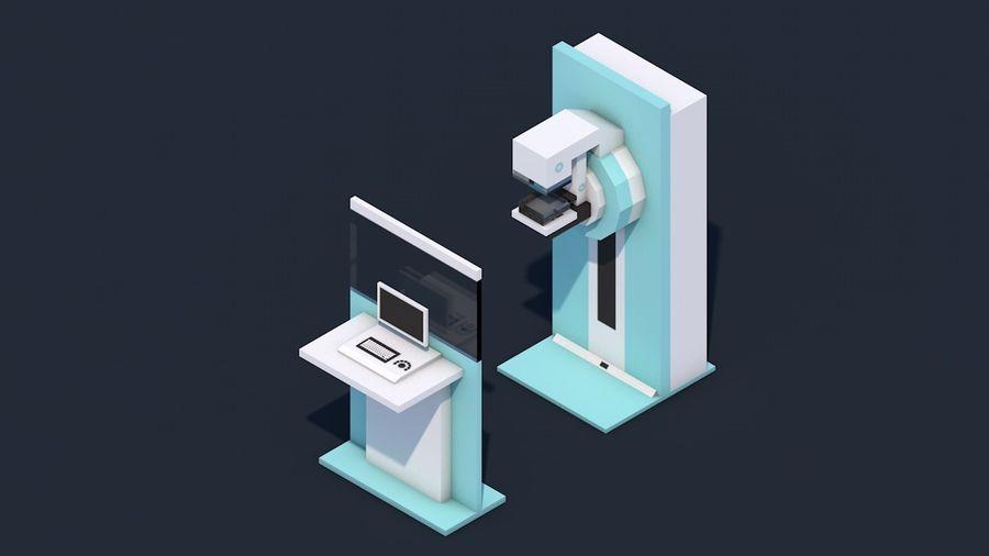 Zestaw szpitalny Low Poly - sprzęt medyczny royalty-free 3d model - Preview no. 12