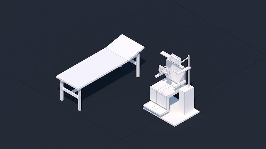 Zestaw szpitalny Low Poly - sprzęt medyczny royalty-free 3d model - Preview no. 15