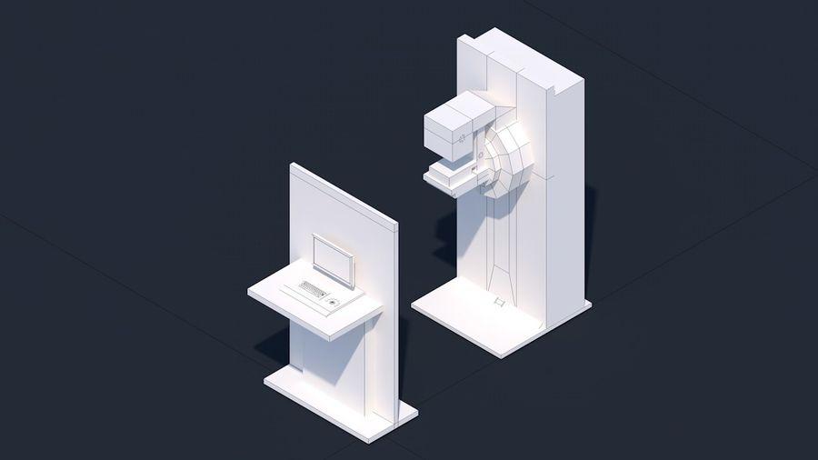Zestaw szpitalny Low Poly - sprzęt medyczny royalty-free 3d model - Preview no. 13