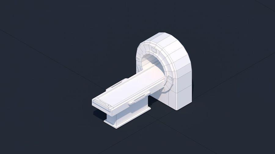 Zestaw szpitalny Low Poly - sprzęt medyczny royalty-free 3d model - Preview no. 7