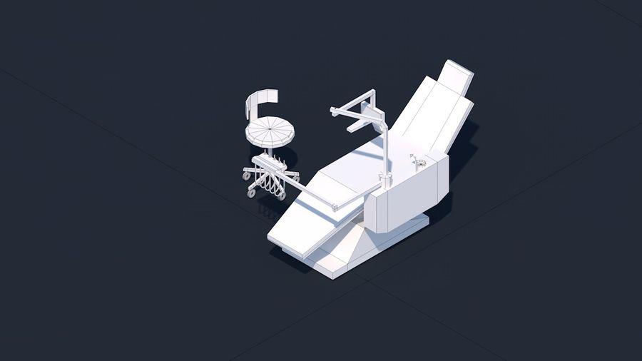 Zestaw szpitalny Low Poly - sprzęt medyczny royalty-free 3d model - Preview no. 9