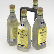 Alcohol Bottle Seagrams Gin 700ml 3d model