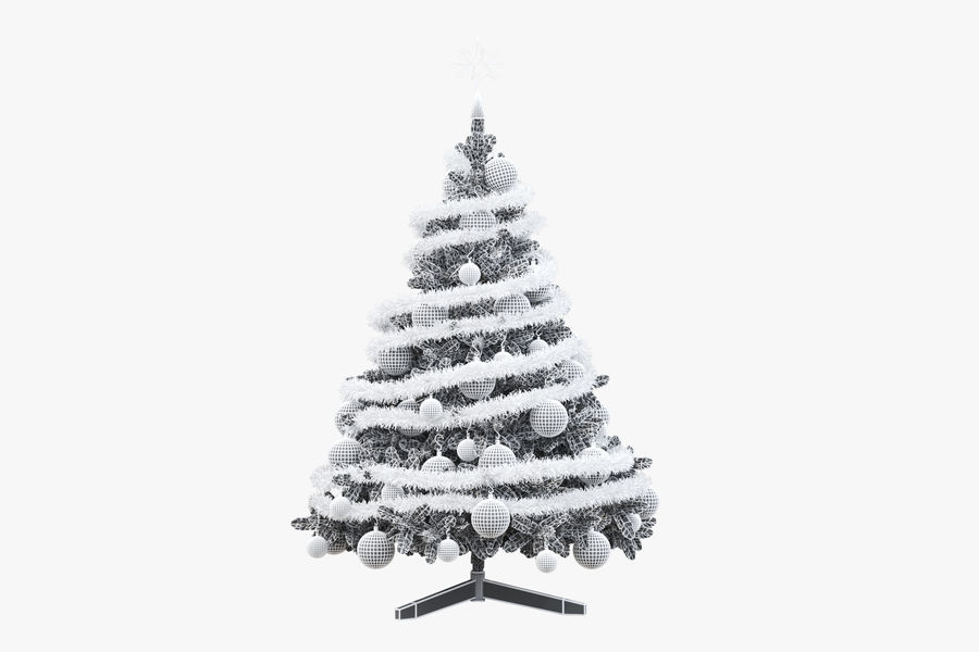 Weihnachtsbaum royalty-free 3d model - Preview no. 10