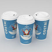 Costa Christmas Coffe Cup Large 3d model