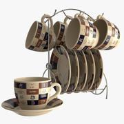 Set tasse et soucoupe 3d model