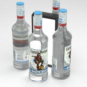 Alcohol Bottle Captain Morgan Caribbean White Rum 700ml 3d model