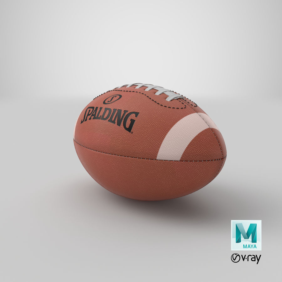 futbol amerykański royalty-free 3d model - Preview no. 17