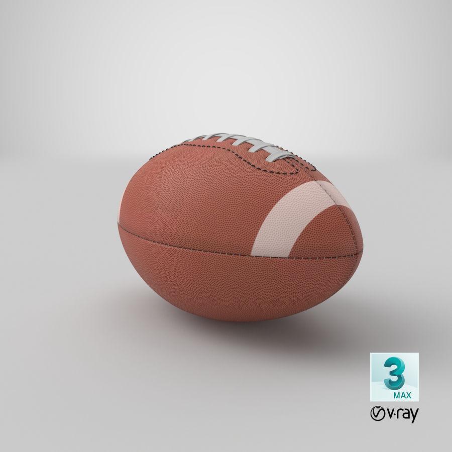 Fútbol americano 3D royalty-free modelo 3d - Preview no. 17