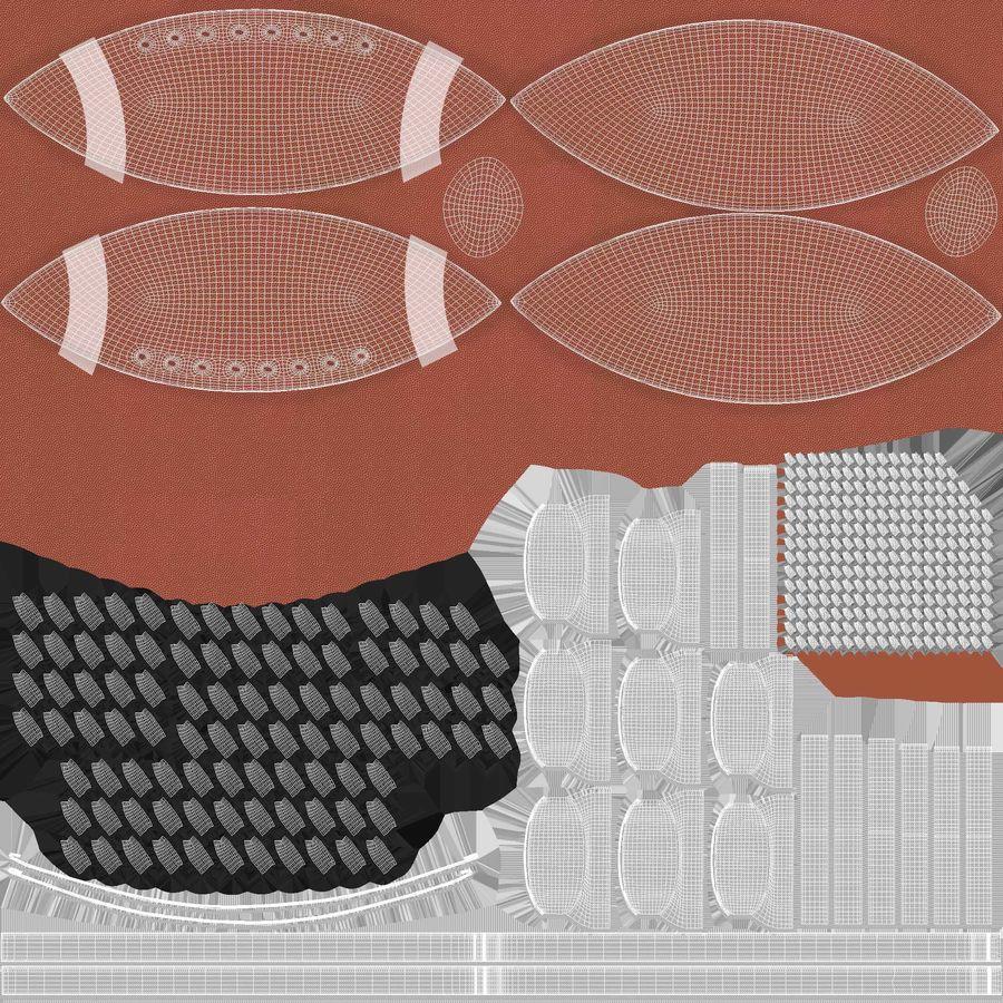 Fútbol americano 3D royalty-free modelo 3d - Preview no. 13