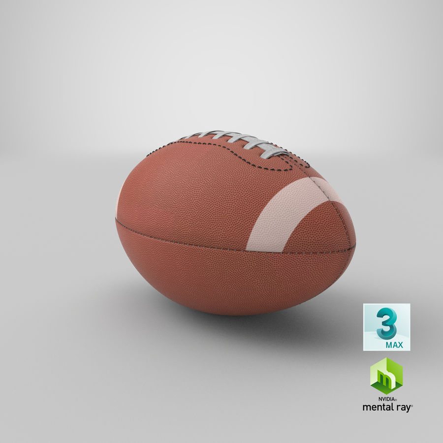 Fútbol americano 3D royalty-free modelo 3d - Preview no. 18