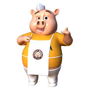 Piggly Rig Maya 2018 персонаж риг 3d model