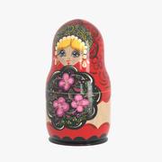 Matryoshka Single Doll 3d model