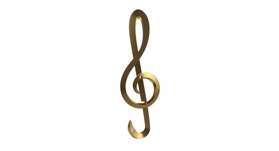 Sol Musical Note royalty-free 3d model - Preview no. 12