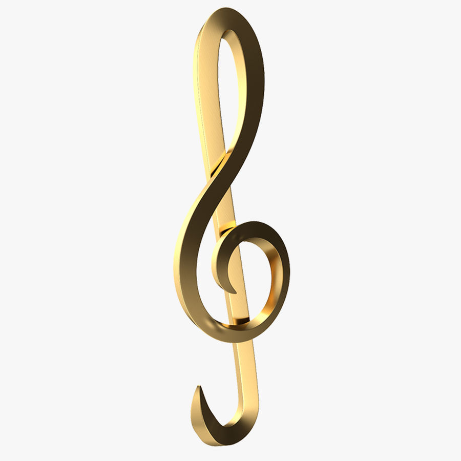 Sol Musical Note royalty-free 3d model - Preview no. 1