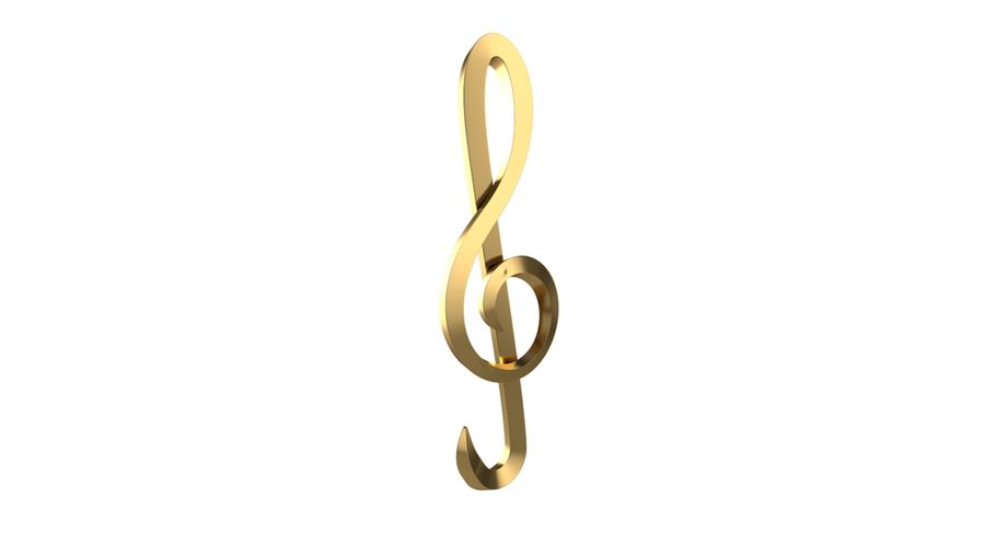 Sol Musical Note royalty-free 3d model - Preview no. 4