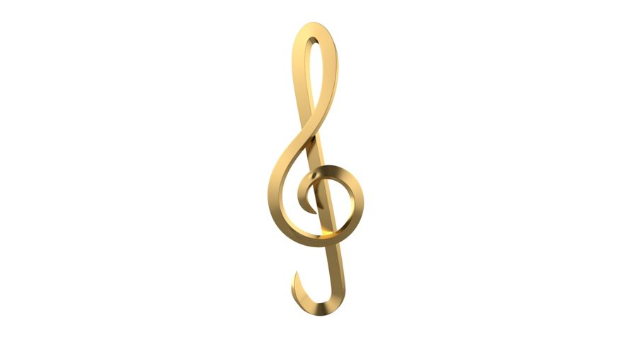 Sol Musical Note royalty-free 3d model - Preview no. 11