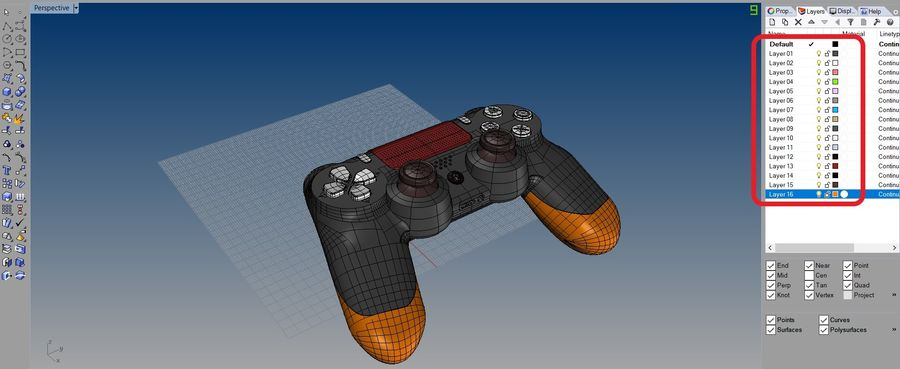 NURBS DUALSHOCK 4 royalty-free 3d model - Preview no. 6