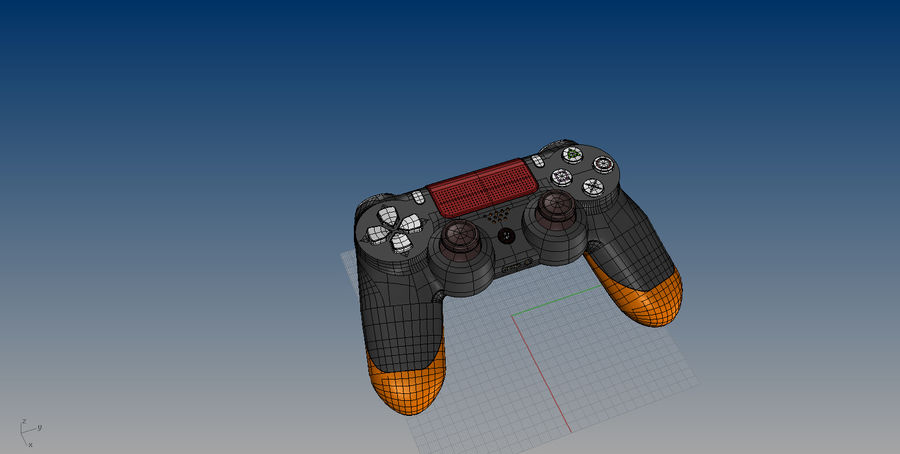 NURBS DUALSHOCK 4 royalty-free 3d model - Preview no. 7