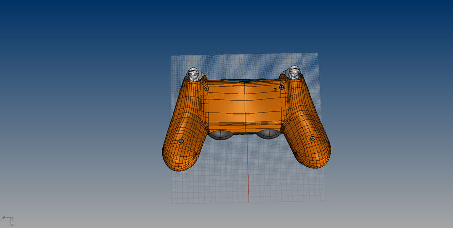 NURBS DUALSHOCK 4 royalty-free 3d model - Preview no. 10