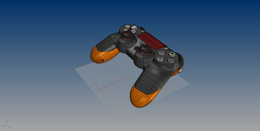 NURBS DUALSHOCK 4 royalty-free 3d model - Preview no. 8