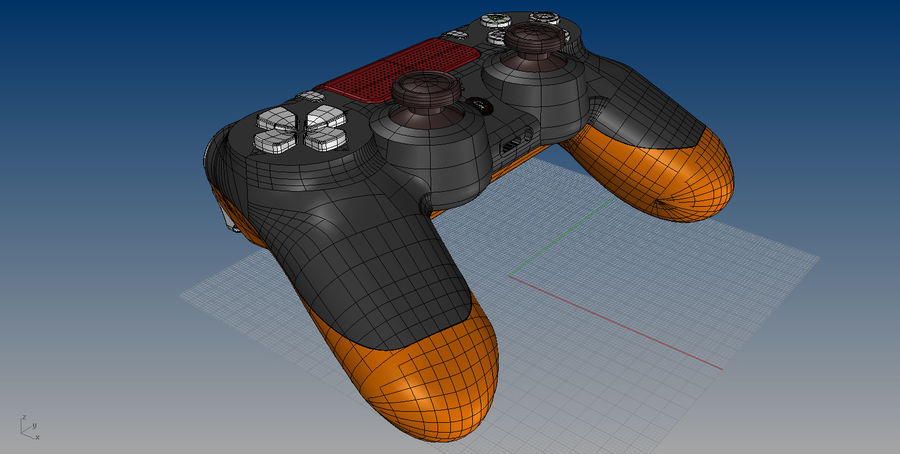 NURBS DUALSHOCK 4 royalty-free 3d model - Preview no. 12