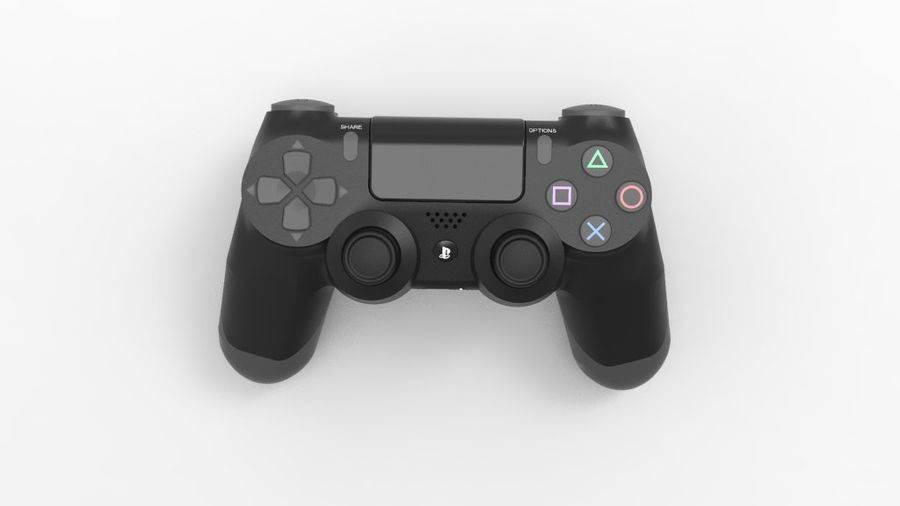 NURBS DUALSHOCK 4 royalty-free 3d model - Preview no. 2
