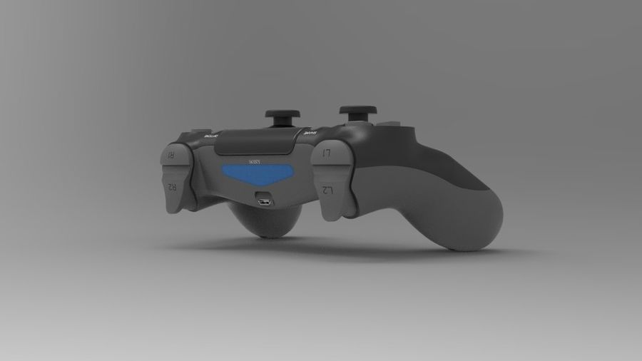 NURBS DUALSHOCK 4 royalty-free 3d model - Preview no. 3