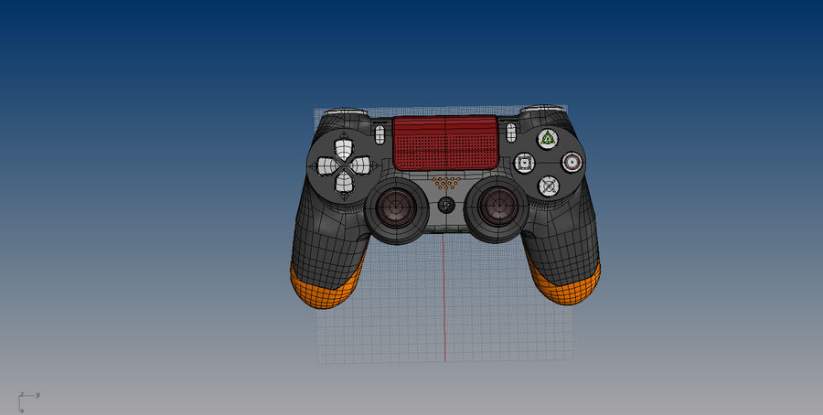 NURBS DUALSHOCK 4 royalty-free 3d model - Preview no. 9