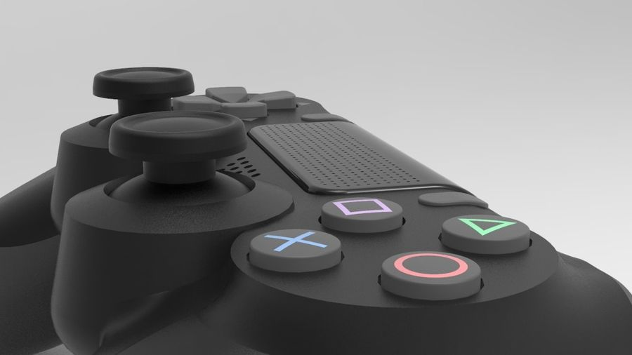 NURBS DUALSHOCK 4 royalty-free 3d model - Preview no. 4