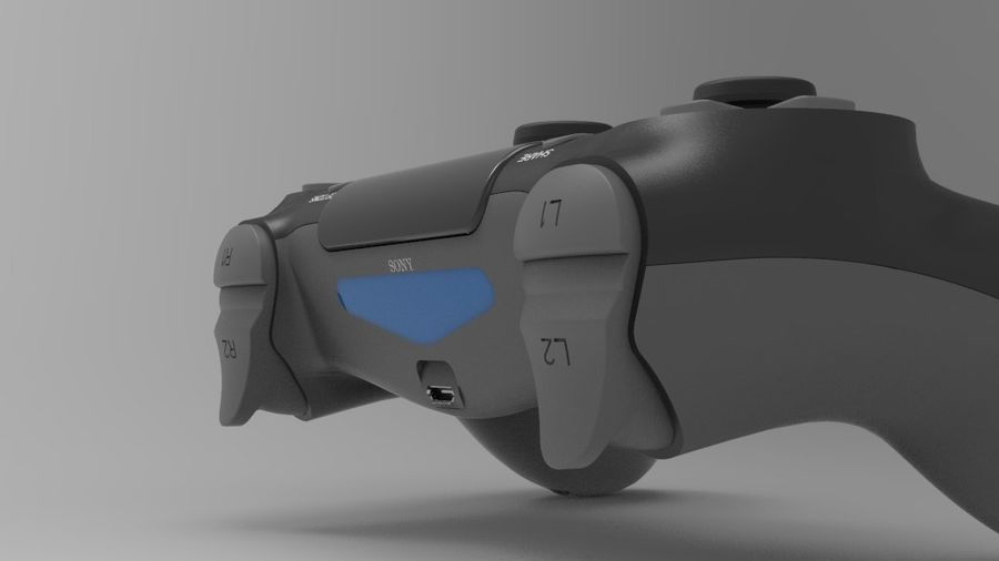 NURBS DUALSHOCK 4 royalty-free 3d model - Preview no. 5